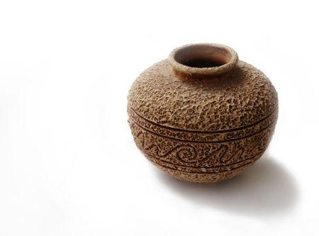 greek pot: vase di ceramica del vecchio handmade di stile con suface e lornamento di massima