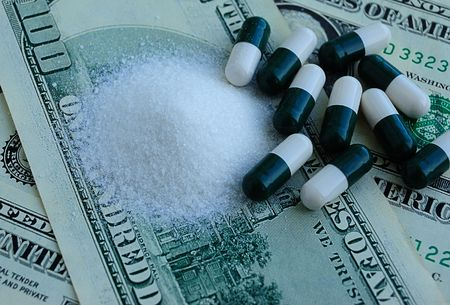 drugs and dollars, crime activity Stock Photo - 3087929