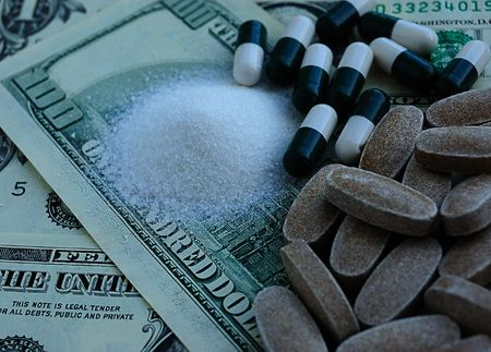 drugs and dollars, crime activity Stock Photo - 3087928