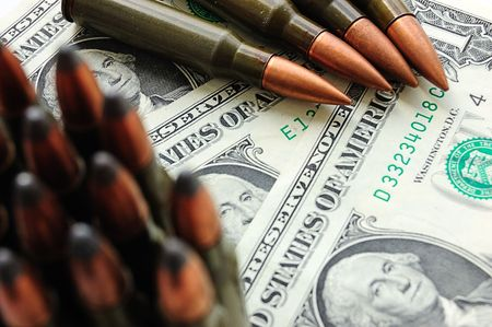 cash and violence, concept of modern World system of relationship Stock Photo - 3087922
