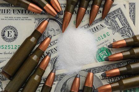 shells, dollars, narcotics - danger crime things Stock Photo - 3087930
