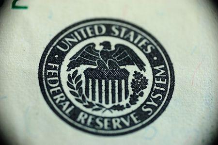 one handred dollars - sign of federal reserve system Banco de Imagens
