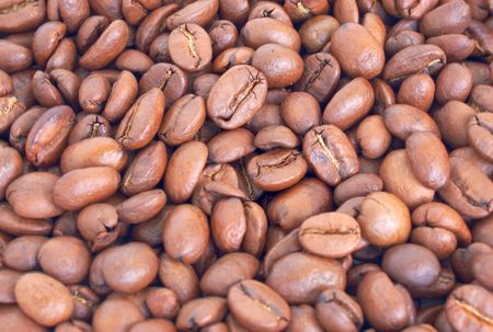 heap of coffee beans, high dinamic range image (HDR) photo