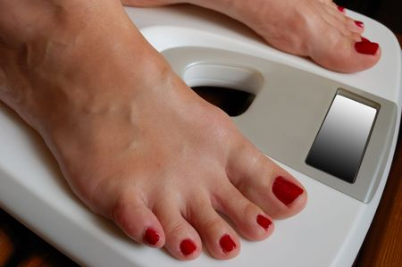 weigher and female feet