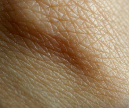 Makro-Muster der helle Haut