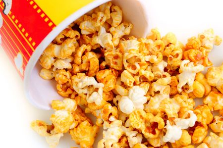 closeup of heap of popcorn  photo