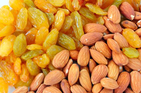 almond and big asian raisin Stock Photo - 3535972