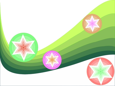 stars-n-curves Stock Vector - 3602574