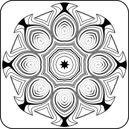 arcs: black and white circular pattern of arcs