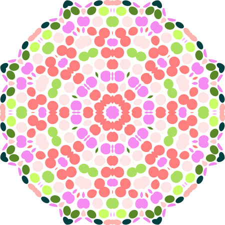 colorful circular pattern of circles Vector