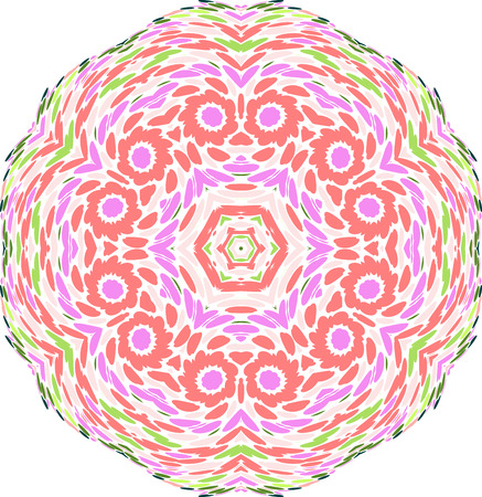 colorful circular pattern of symmetry  circles Vector