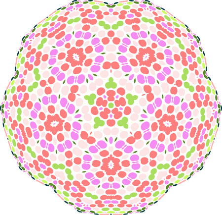 colorful circular symmetry pattern of circles Vector