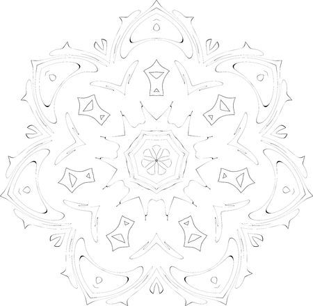 black and white symmetry ornate pattern photo