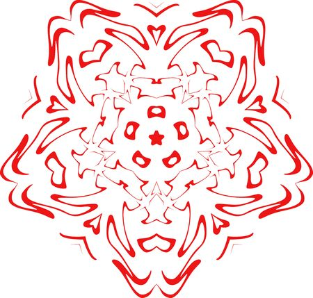 decorative vector  of red color photo