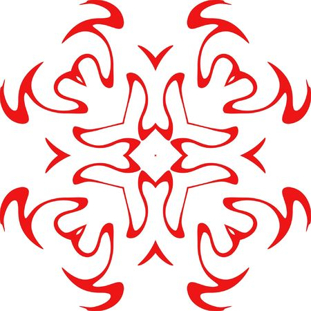 decorative vector  of red color Stock Photo - 3682866