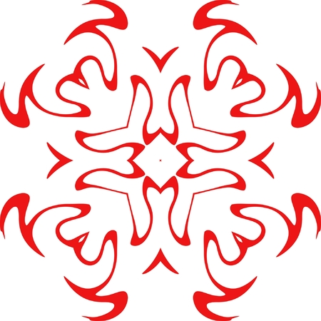 decorative vector snowflake of red color Stock Vector - 3729124