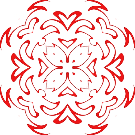 decorative vector snowflake of red color Stock Vector - 3729133