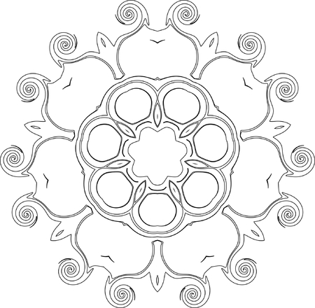 arcs: black and white symmetry pattern of curves