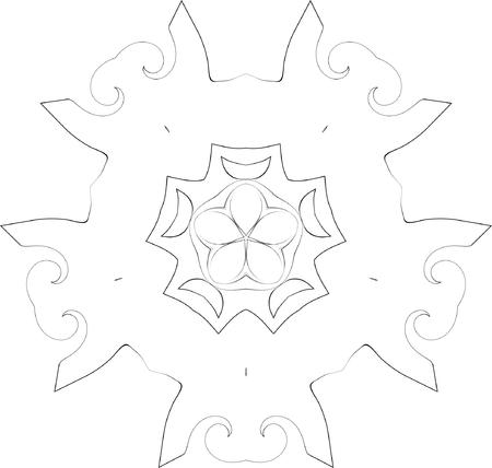 black and white symmetry ornate pattern Stock Vector - 3737908