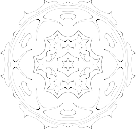 black and white symmetry ornate pattern Stock Vector - 3737919