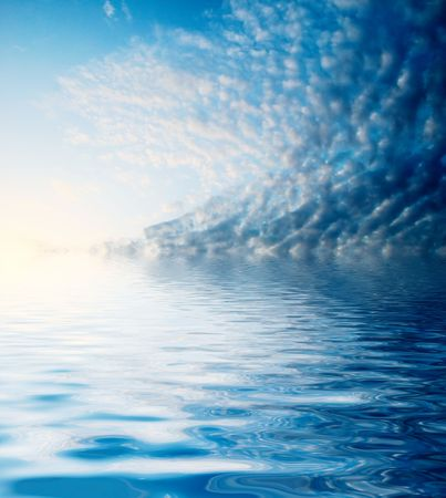good weather -  blue sky covered with fluffy clouds Stock Photo - 3746614
