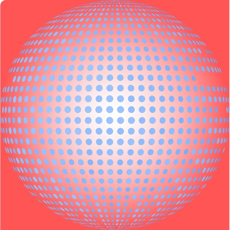 blue halftone and red background Vector