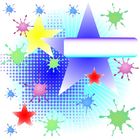 blue rays and stars grunge background Stock Photo - 3974357