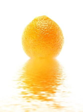 fresh orange trangerine in water photo