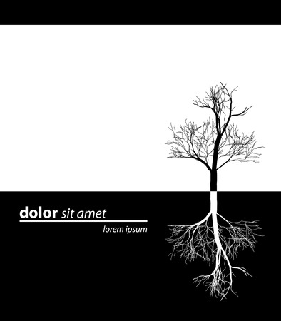 tree simply black design Stock Vector - 4013705