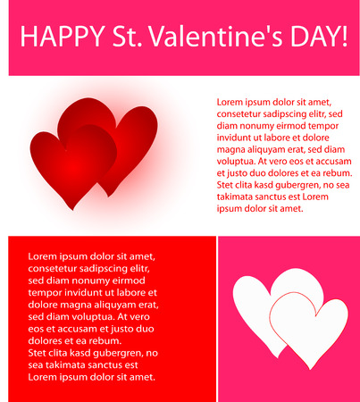 colorful valentines design of hearts, lines and text Stock Vector - 4104215