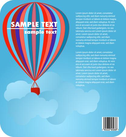 ausflug: Ballon in den blauen Himmel Corporate Design Illustration
