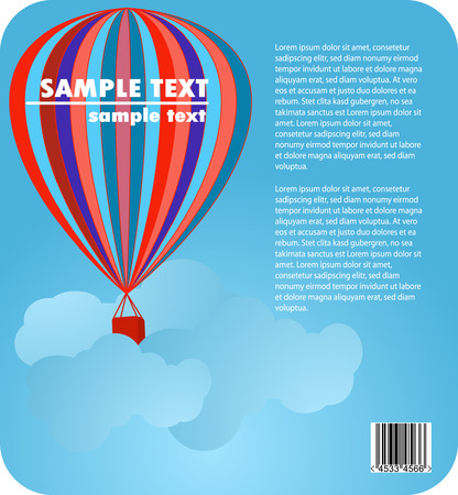 air baloon: baloon in blue sky  corporate design Illustration