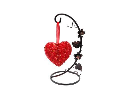 impiccata: vetro rosso cuore impiccati