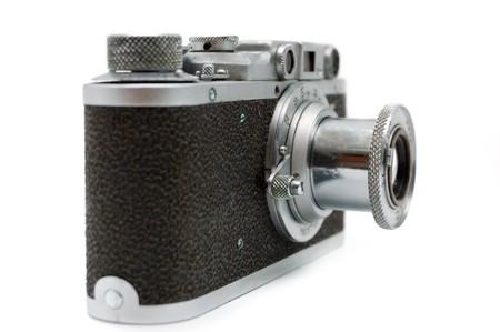 Old rangefinder vintage camera against white Stock Photo - 4171974