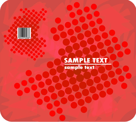 red halftone design with barcode Vector