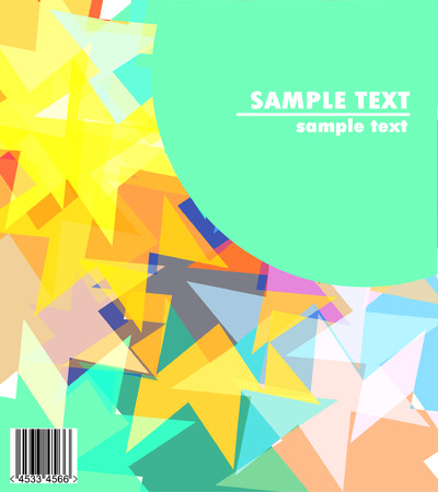 cover design - text against colorful stras background and barcode Vector