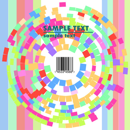obsolete pink vector design of stripes with barcode Vector