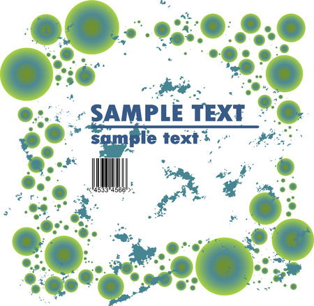 Grungy vector design of circles with barcode Stock Vector - 4254967