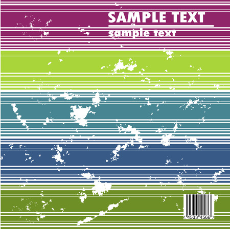 Grungy vector design of stripes with barcode Vector