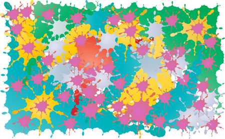 background of ink blobs of different colors Vector