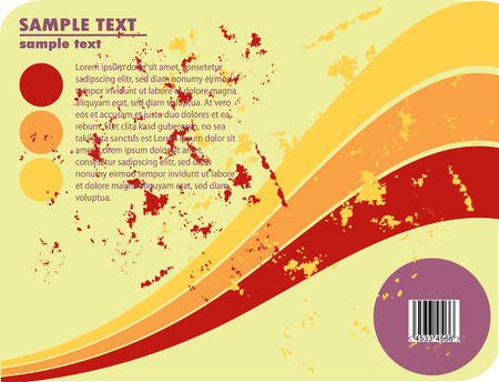 obsolete vector design of stripes with barcode Vector