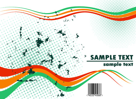 abstract halftone curled background with copyspace Stock Vector - 4298495