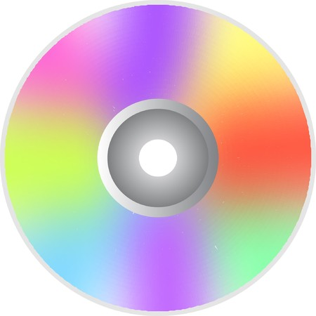 rainbow CD or DVD optical disc photo