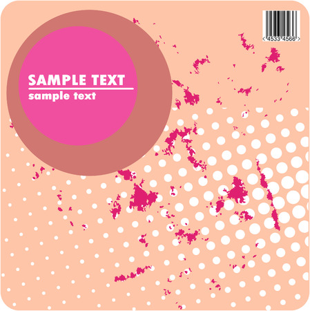 Grungy vector design of dots with barcode Vector