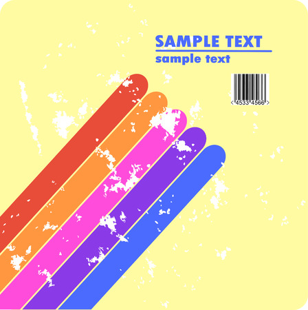 Grungy vector design of stripes with barcode Stock Vector - 4537919
