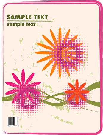 obsolete floral vector design of bended stripes Stock Vector - 4603749