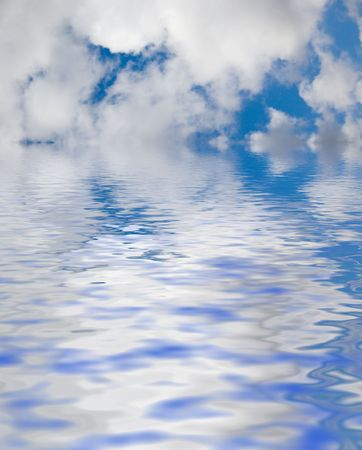 Blue sky and water background Stock Photo - 4610285