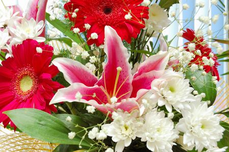 lilia: lilia y de gerbera bouqet