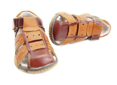 sandals isolated: boys sandals isolated