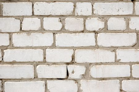 brick wall texture pattern (white) photo